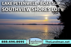 1873702, Petenwell Lake Access Lot for Sale with Boat Slip Southview Shores