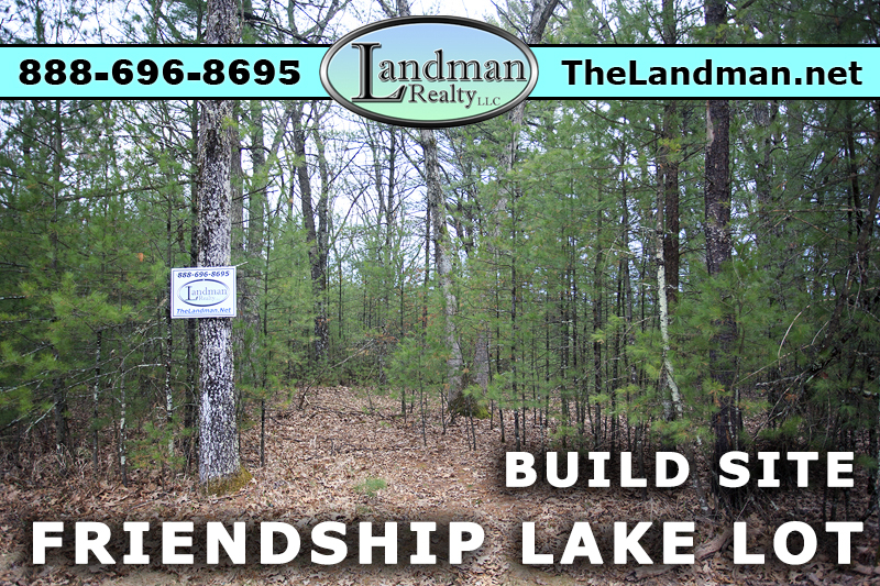 Friendship Lake Wisconsin Waterfront Lot for Sale