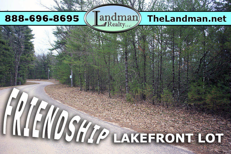 Friendship Wisconsin Lakefront Land for Sale